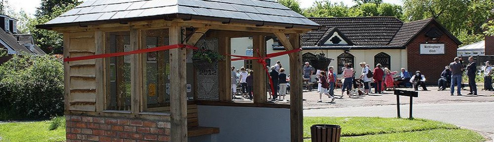 'Launch' of the new bus shelter - 1 June 2011